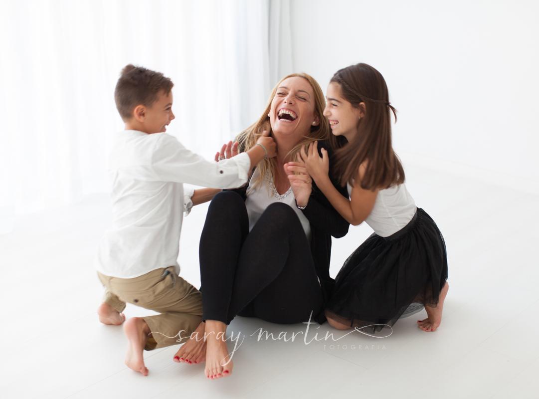 madre con niños
