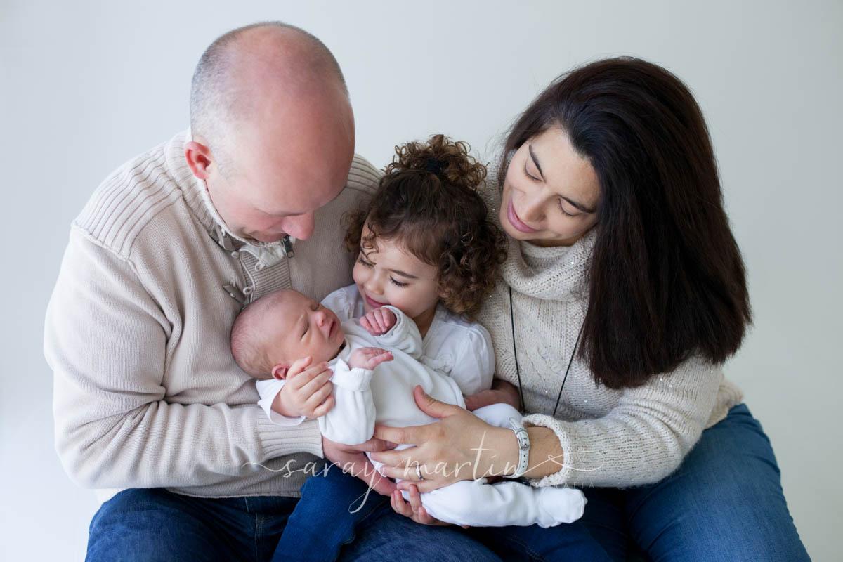 familia con bebe