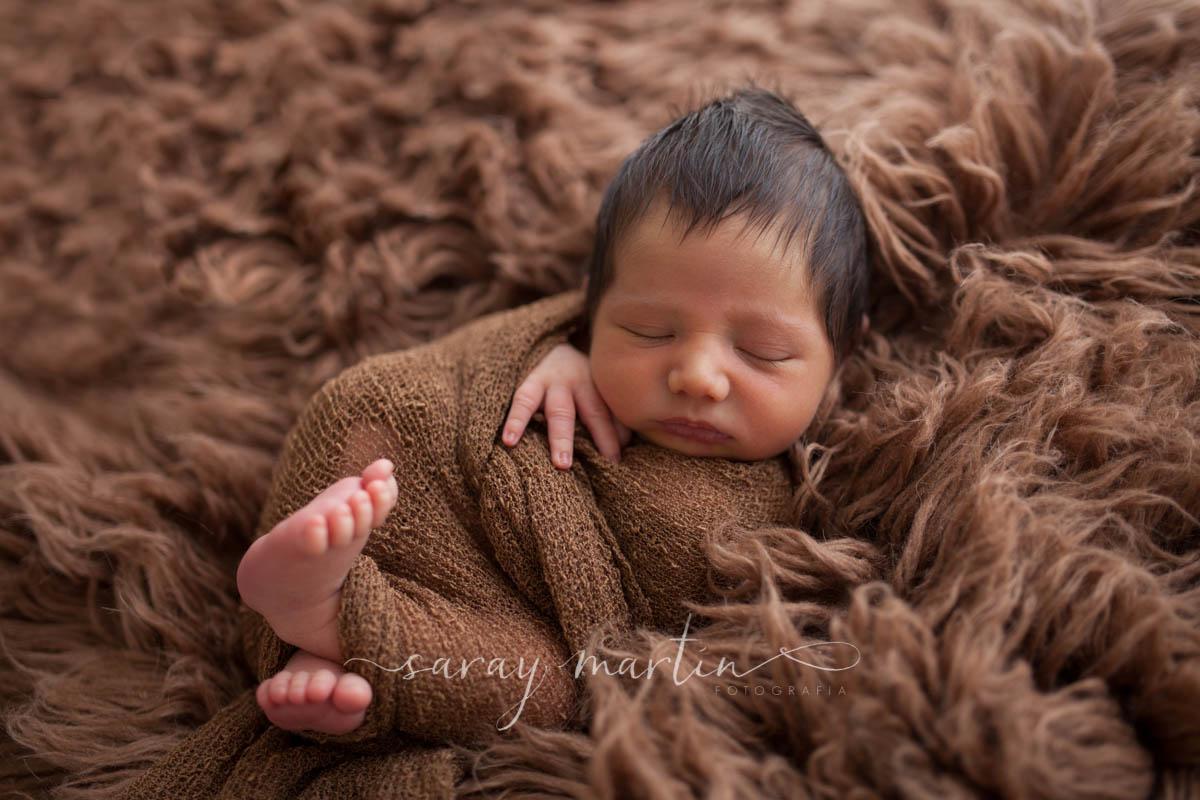 bebe manta marron