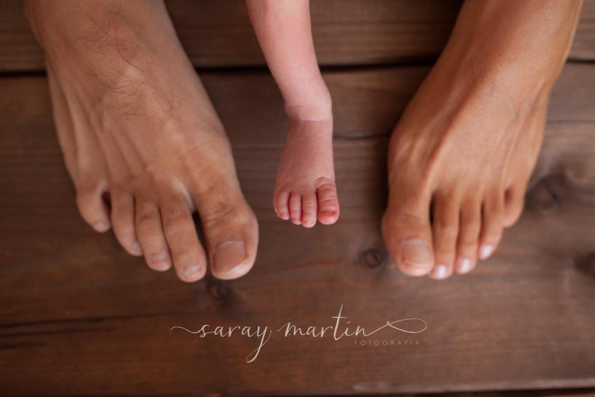 pies bebe y padres